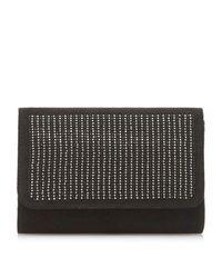 Dune Black Bliingy - Gem Embellished Clutch Bag