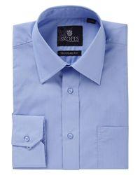 Skopes - Blue Easy Care Regular Fit Long Sleeve Shirt for Men - Lyst