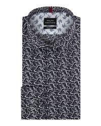 Simon Carter | Blue Men's Long Sleeve Slim Fit Sketchy Triangle Shirt for Men | Lyst
