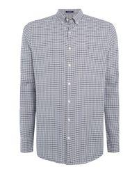 Gant | Gray Men's Tech Checked Twill Shirt for Men | Lyst