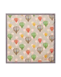 Simon Carter Gray Balloons Print Pocket Square for men