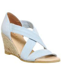 Office - Blue Maiden Cross Strap Wedge Sandals - Lyst