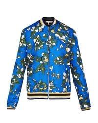 Ted Baker Cheylan Cbn Blue Floral Print Bomber