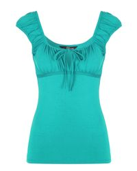 Jane Norman | Green Gypsy Top | Lyst