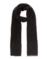 Coast - Black Niko Pleated Scarf - Lyst