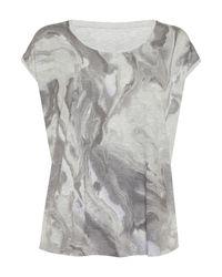 Label Lab | Gray Lava Print Tee | Lyst