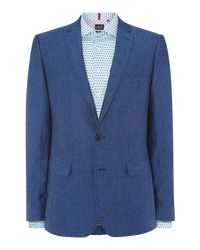 Simon Carter Blue Sb2 Linen Slim Fit Jacket for men