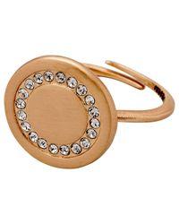 Pilgrim - Metallic Impressive Rose Gold Ring With Crystals - Lyst