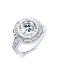 Bouton | Metallic Large Stone Round Ring | Lyst