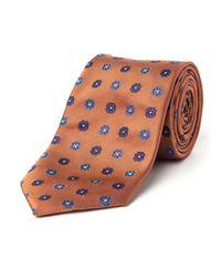 Paul Costelloe - Orange Milton Motif Silk Tie for Men - Lyst