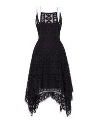 Free People | Black Just Like Honey Lace Dress With Hankerchief Hem | Lyst