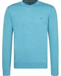 Tommy Hilfiger Blue Men's Cotton Silk Cneck for men