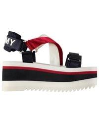 Tommy Hilfiger Red Neo Flatform Sandals