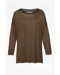 Great Plains - Green Maria Jersey Long Sleeved Top - Lyst