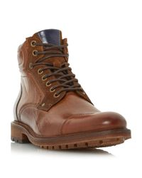 Bertie - Multicolor Clef Toecap Lace Up Boots for Men - Lyst
