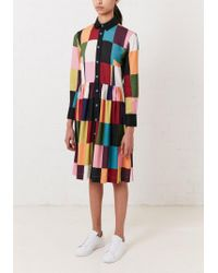 House of Holland - Multicolor Printed Patchwork Midi Dress - Lyst