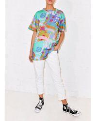 House of Holland - Blue Nova Print Boyfriend T-shirt - Lyst