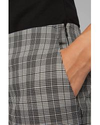 BOSS by Hugo Boss Gray Regular-fit Trousers In A Cotton-blend Check