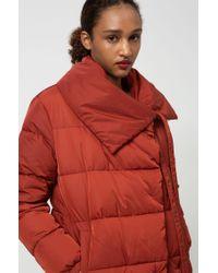HUGO Brown Regular-fit Water-repellent Puffer Coat With Oversized Collar