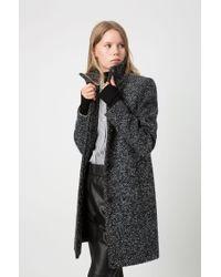 HUGO Gray Regular-fit Coat In Two-tone Yarn for men