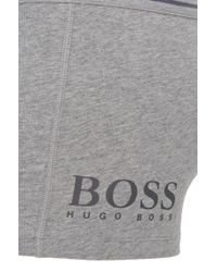 BOSS - Gray Stretch Cotton Trunks   Trunk 24 Logo for Men - Lyst