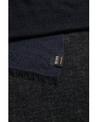 BOSS Blue Melange Scarf In Mixed Weaves for men