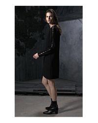 HUGO Black Long-sleeved Dress With Embellishments