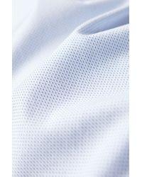 Chemise Slim Fit en coton façonné à col italien BOSS pour homme en coloris White