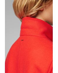 BOSS Red Heavyweight Coat In A Wool Blend With Cashmere