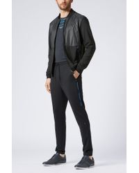 BOSS - Black Technical Jogging Bottoms With S.café® for Men - Lyst