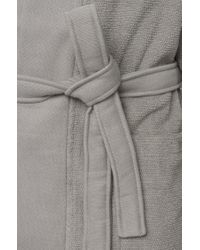 BOSS Gray Kimono-style Bathrobe In Combed Aegean Cotton