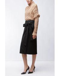 HUGO - Brown Turtle-neck Sweater In Virgin Wool - Lyst