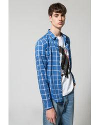 HUGO Blue Cotton Sport Shirt, Extra Slim Fit | Ero W for men