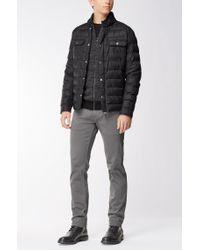 BOSS Orange Black Zip-through Jacket In A Cotton Blend for men