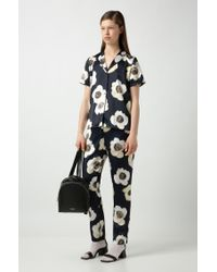 BOSS by Hugo Boss Multicolor Drawstring Trousers In Hammered Fabric With Anemone Print