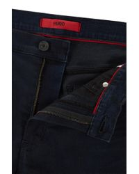 HUGO Skinny-fit Jeans In Blue-black Comfort-stretch Denim for men