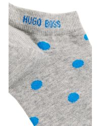 BOSS - Metallic Spotted Ankle Socks Blended With Combed Cotton for Men - Lyst