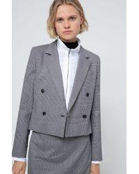 Veste croisée Regular Fit en tissu prince-de-galles HUGO en coloris Gray