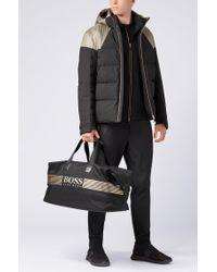 BOSS - Black 'pixel Holdall' | Logo-print Nylon Travel Bag for Men - Lyst