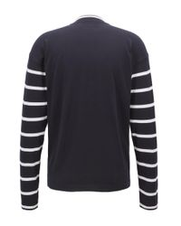 BOSS - Blue Jersey Cotton Sweater | Newquay for Men - Lyst
