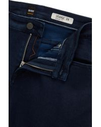 BOSS - Regular-fit Blue Jeans In Comfort Stretch Denim for Men - Lyst