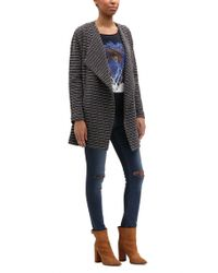 BOSS Orange - Blue Relaxed-fit Jersey Coat In Structured Bouclé - Lyst