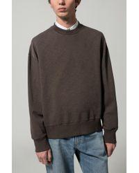 HUGO Brown Oversized-fit Sweatshirt In Slub French Terry for men