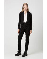 Veste Regular Fit à poignets fendus et longueur raccourcie HUGO en coloris Black