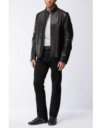 BOSS Black Leather Sneaker | Space Lowp Lux for men