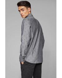 Chemise Regular Fit en coton à fil coupé BOSS by Hugo Boss pour homme en coloris Black