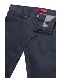 HUGO Skinny-fit Low-rise Jeans In Stay-blue Stretch Denim for men