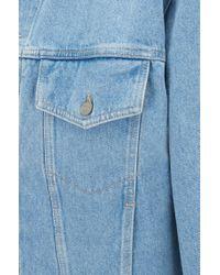 BOSS Relaxed-fit Trucker Jacket In Bright-blue Rigid Denim for men
