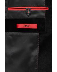 HUGO Black Extra-slim-fit Jacket In Soft Velvet for men
