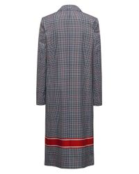 HUGO Multicolor Relaxed-fit Coat With Plain Check And Contrast Stripe